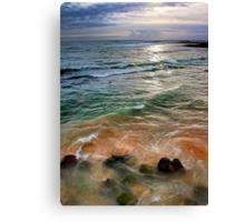 sand and sea love Canvas Print