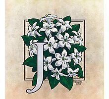 J is for Jasmine Photographic Print