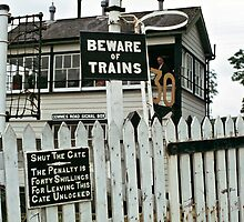 Cemmes Road signal box, Wales, UK. 1970s by David A. L. Davies