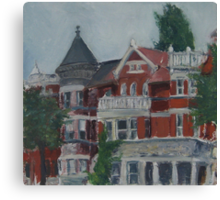 Houses at Dupont Circle Canvas Print