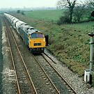 """Up"" china clay train near Bruton, Somerset, UK. 1970s by David A. L. Davies"