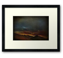 The World Could Collapse Around Us Framed Print
