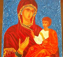 Virgin Mary and Child by Lora Levitchi