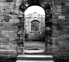 Hylton Castle Window in a door by GavinCraig