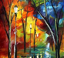 MY  TEARS - Original Art Oil Painting By Leonid Afremov by Leonid  Afremov