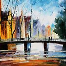 MEMORIES OF AMSTERDAM - Original Art Oil Painting By Leonid Afremov by Leonid  Afremov