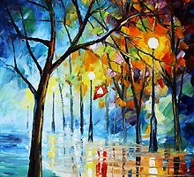 Naked Winter - Original Art Oil Painting By Leonid Afremov by Leonid  Afremov