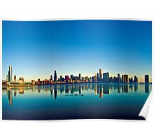 Chicago skyline at sunrise. Poster
