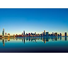Chicago skyline at sunrise. Photographic Print