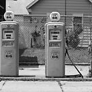 Route 66 - Illinois Gas Pumps by Frank Romeo