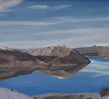 Ohau reflection by Pam Buffery