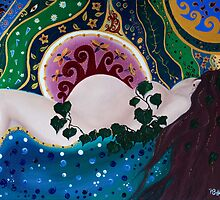 Gaia sleeping by Pam Buffery