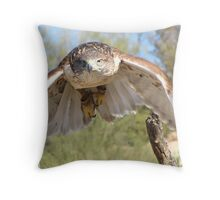 Ferruginous Hawk ~ Spot On! Throw Pillow
