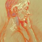 Life drawing side view by Mick Kupresanin