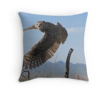 Great Horned Owl ~ 6mo Juvenile Throw Pillow