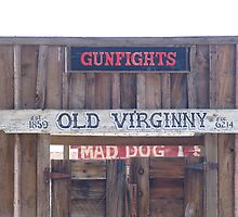"""""""Front door of the Old Virginia City Saloon"""" by waddleudo"""