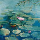 Waterlilies - Topaz by Carmel Pacey