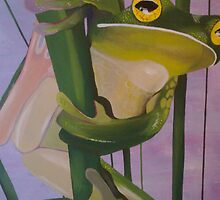 grass reed frog by beccy heilers