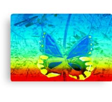 Butterfly in primary colors Canvas Print