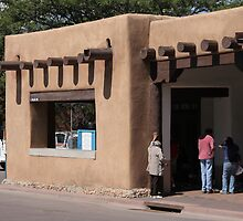 Santa Fe, New Mexico - Adobe Building by Frank Romeo