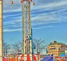 Coney Island amusement park by henuly1