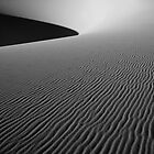 """sunrise in black and white over death valley dunes"" by garyfoto"