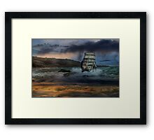 High Seas.  Framed Print