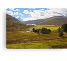 Dalnaspidal (Dalnaspidal, Loch Garry, The Cairngorms National Park, Scotland, UK) Canvas Print
