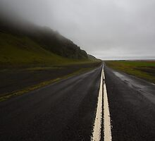 Looking down the Ring Road, Iceland by Denise Goldberg
