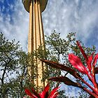 Tower of the Americas - San Antonio Texas by Debbie Pinard