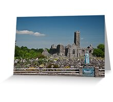 Quin Abbey, County Clare, Ireland Greeting Card