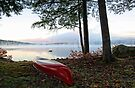 Red OldTown Canoe - Crystal Lake by T.J. Martin