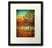 Central Park, A Vintage Fall Fantasy Framed Print