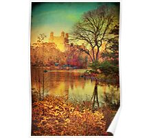 Central Park, A Vintage Fall Fantasy Poster