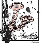 Armillaria Tribal Mushroom Graphic by infinitychild