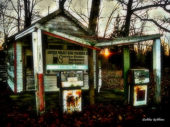 What Happened To Our Old Gas Station??? by Debbie Robbins