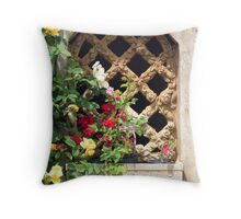 The Cottage Window Throw Pillow