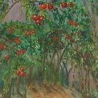 an orchard of Pomagranates........ by Gigi Guimbeau