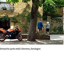 Sunday afternoon in Domme, the Dordogne by macondo