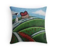 BIG-hearted Throw Pillow