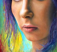 Model No.2 - Model with Purple Hair by ForrestFineArts