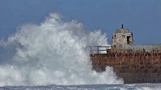 """"""" Still the waves smash into the pier"""" by mrcoradour"""