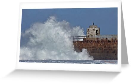 """ Still the waves smash into the pier"" by Malcolm Chant"