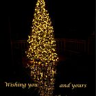 Reflected Lights Card - Gold by Kathy Weaver