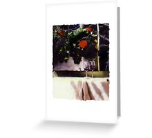 Glasses on the table Greeting Card