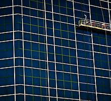 window washing a skyscraper by Gerry Daniel