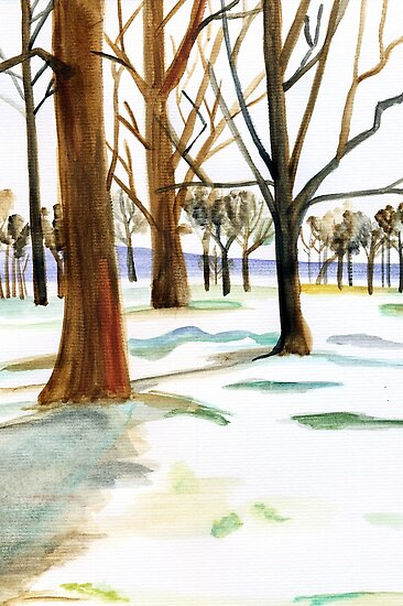 winter trees by Leeanne Middleton