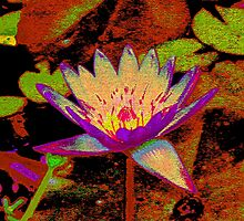 Water Lily Tapestry by AuntDot