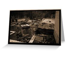 Old Abandoned Mine Site  Greeting Card