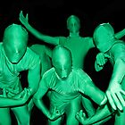 Little Green Men by Sue  Cullumber